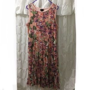 LIE Sz 16 floral mesh sun dress